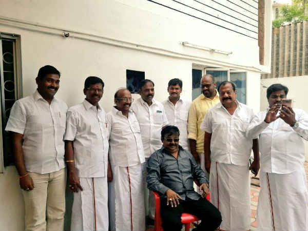 DMDK General secretary Vijayakanth returns to home from Singapore