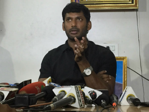 Actor Vishal says his full supports TTV Dinakaran