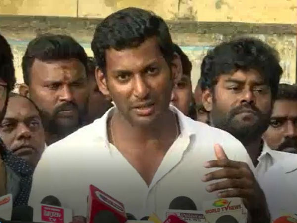Actor Vishal asks God to save the Country