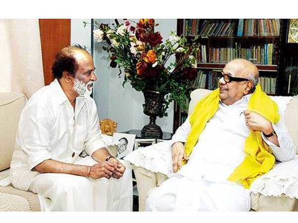 Actor Rajinikanth meets DMK leader Karunanidhi today?