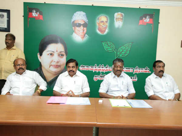 12 member spoke person for ADMK has announced