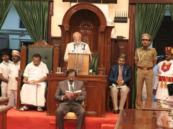 TN Governor Banwarilal Purohit Praises ADMK Government in his Speech