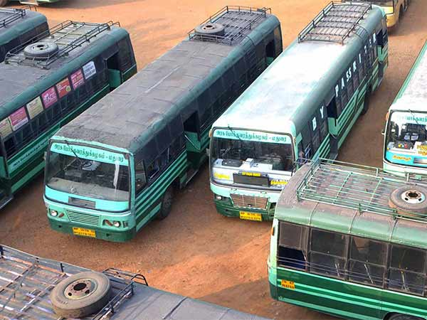 bus strike by tamil nadu government transport employees union for pay and benefits