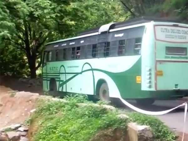 Government buses are being stopped at Mettupalayam on the Nilgiris highway