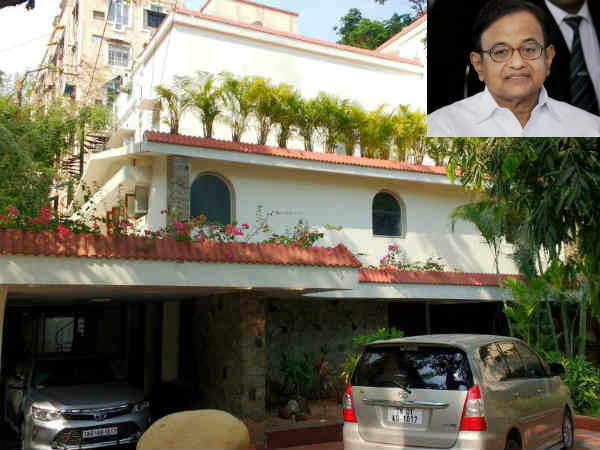 Income tax raid at Former union minister P Chidambaram