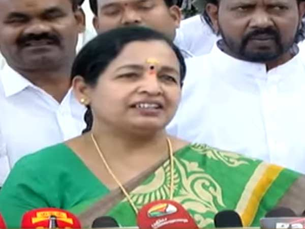 EPS and OPS are Staple Toys of BJP says CR Saraswathi
