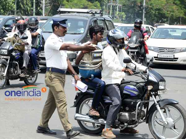 Do not chase the vehicles off violating traffic rules : Chennai police commissioner