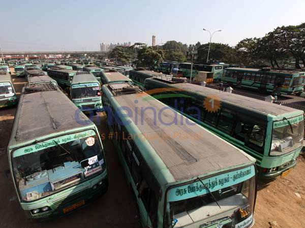 Buses plied in Chennai are in very less number