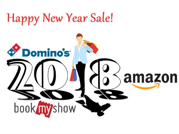 New Year 2018 Offers! Dominos Pizza, Bookmyshow, Amazon Upto 80% Off*