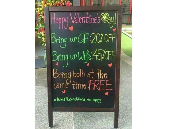 A photo became viral on Social media about valentine's day
