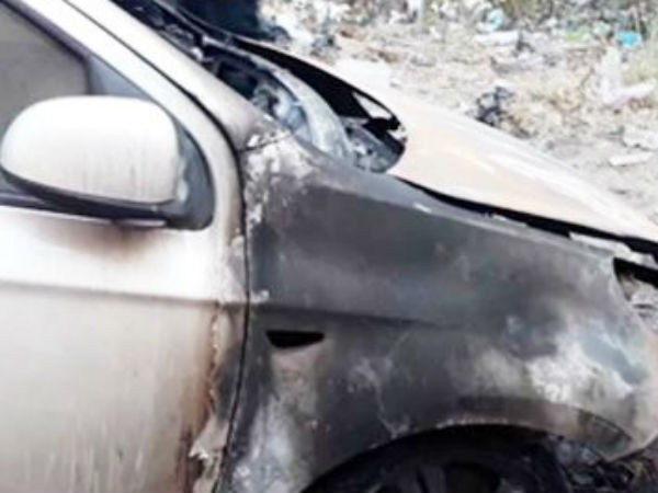Mother sets fire on Son's car because of her daughter in law travels in that car