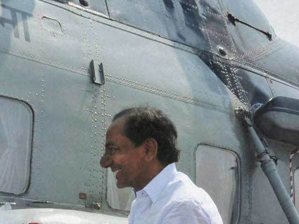 Fire Breaks Out in Telangana CM KCR Helicopter