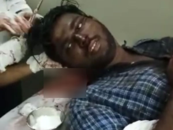 Video of Student stabbed by Yongsters in Thiruninravur