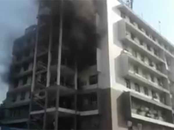 Fire accident near Chennai central railway station