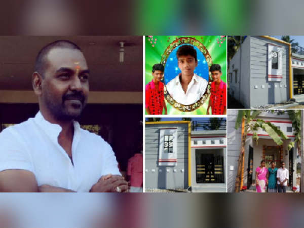 Actor Ragava lawrence handed over new house to Salem family