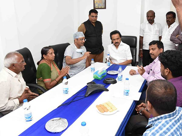 MK Stalin meets IT worker Lavanya who was attacked by robbers