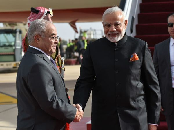 Modi's Palestine visit: PM arrives in Amman