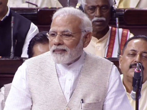 PM Modi responds to criticism in the Rajya Sabha