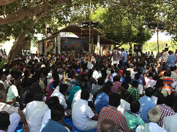 Protests against ONGC in Neduvasal
