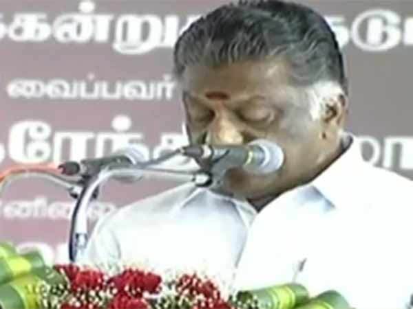 Deputy CM O Paneerselvam welcomes PM with english speech