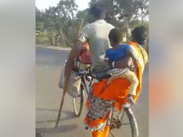A video shows how a handicapped ride cycling