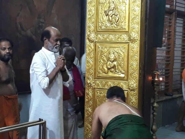 சென்னை மயிலாப்பூர் ராகவேந்திரா கோயிலில் ரஜினிகாந்த் சுவாமி தரிசனம்!