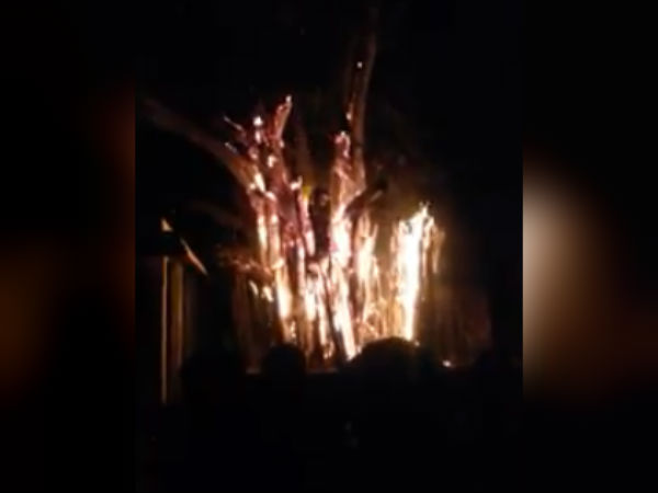 Fire accident in Thiruvalangadu temple