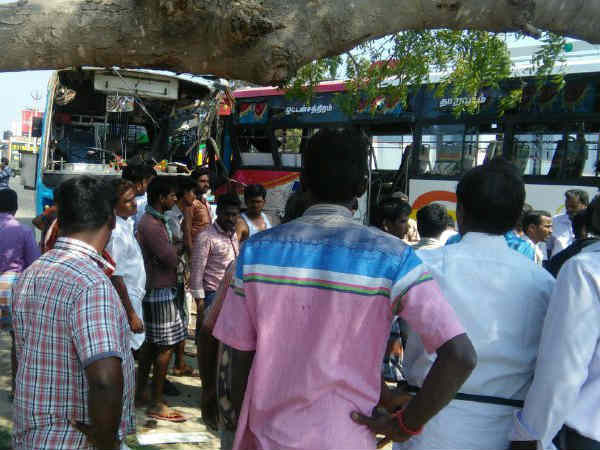 Private Buses accident near Tirupur
