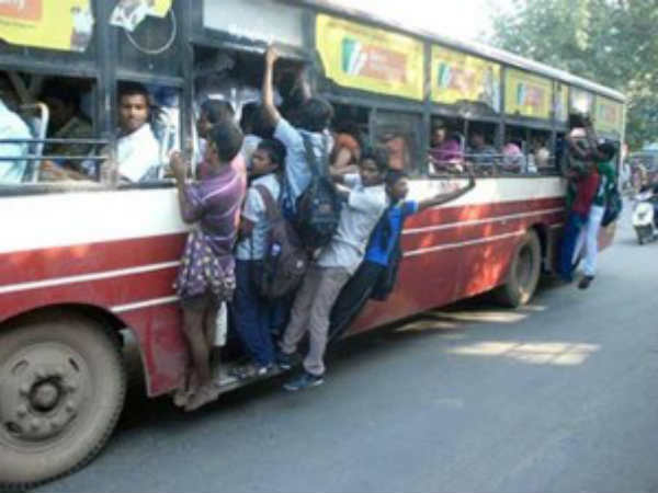 9th std student dies after fell down from government bus in Thiruthani