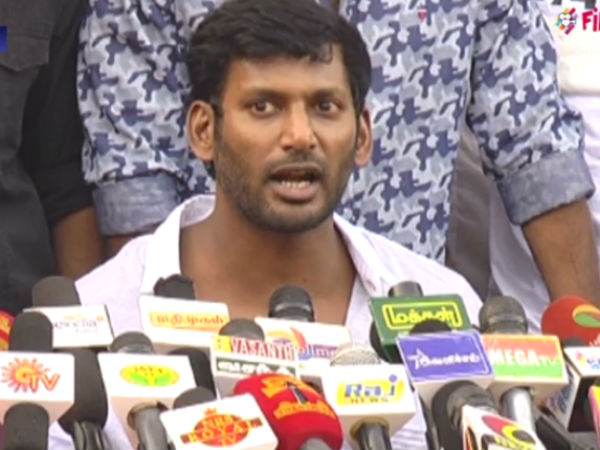 Actor Vishal says that he will decide about starting political party
