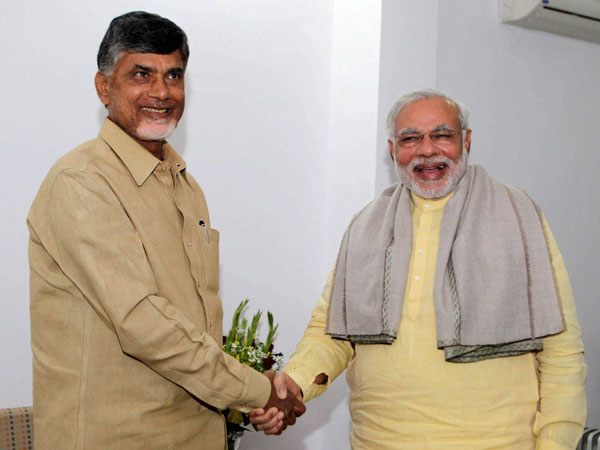 PM Narendra Modi speaks to Andhra Pradesh CM Chandrababu Naidu