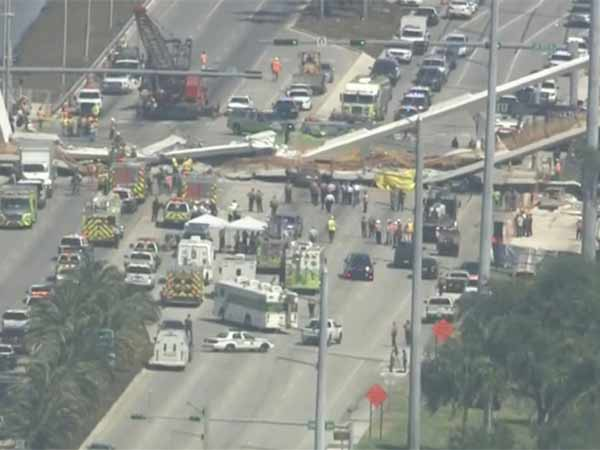 At least Six dead in Florida university bridge collapse