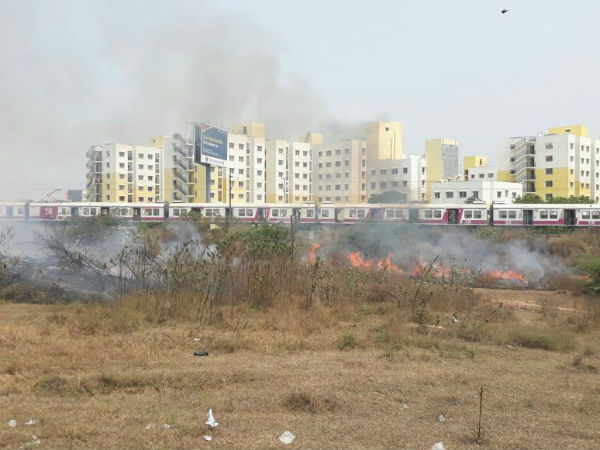 Fire accident happens in Chengalput tollgate