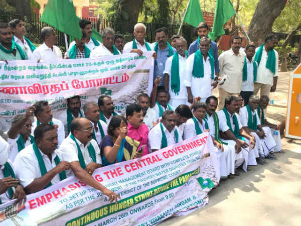 Cauvery water issue: Tamil Nadu farmers to begin hunger strike in Delhi