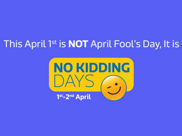 "Flipkart's ""No Kidding Days"" Are Here: Shop Flipkart-assured Products for Unbelievable Prices!"