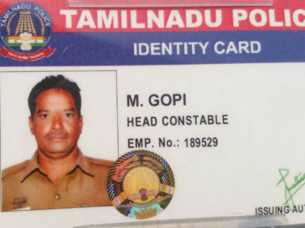 The Head constable dies of a heart attack in Pazhaverkadu