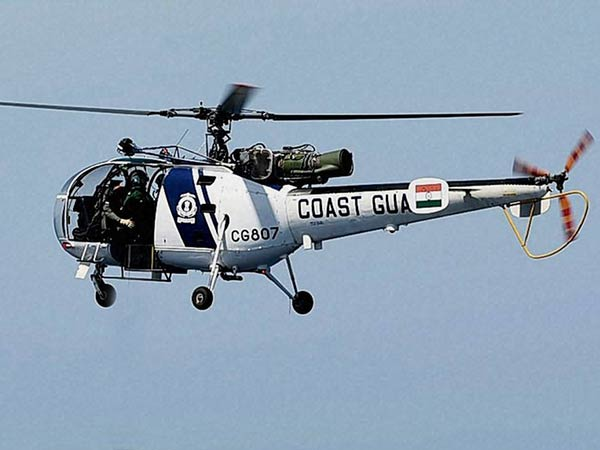 Indian Coast Guard helicopter crashes in Maharashtra
