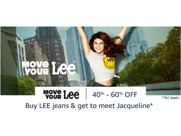 Want 60% Off on Your Next Order? Denim Fest at Amazon* (Chance to Meet Jacqueline Fernandez)