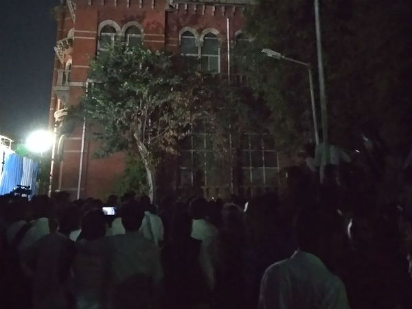Chennai law college students protests intensifying