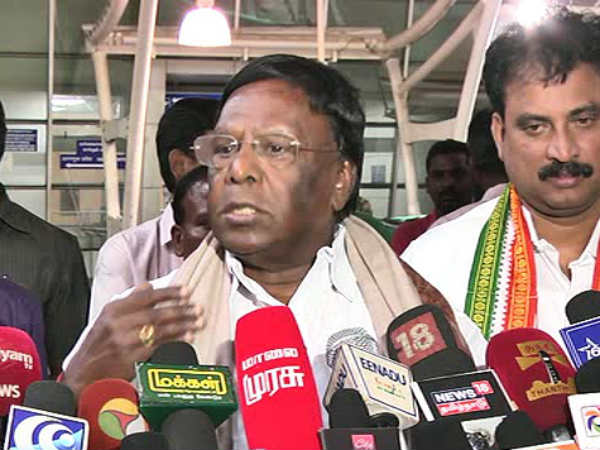 Puducherry CM Narayanasamy writes letter to central minister Nitin Gadkari on cauvery issue