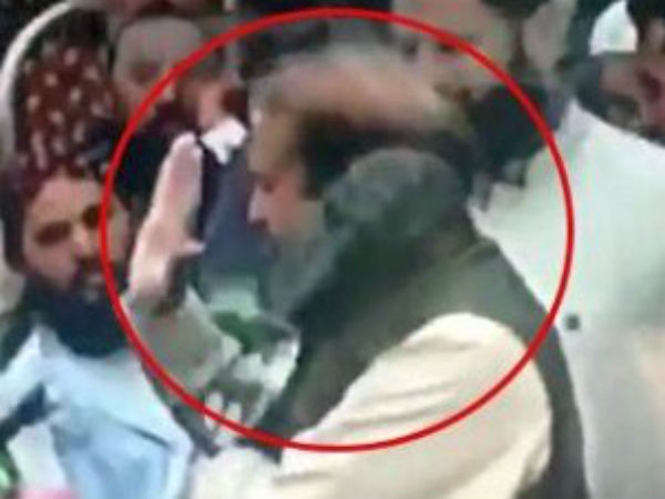 A Shoe thrown at Nawaz Sharif in Lahore