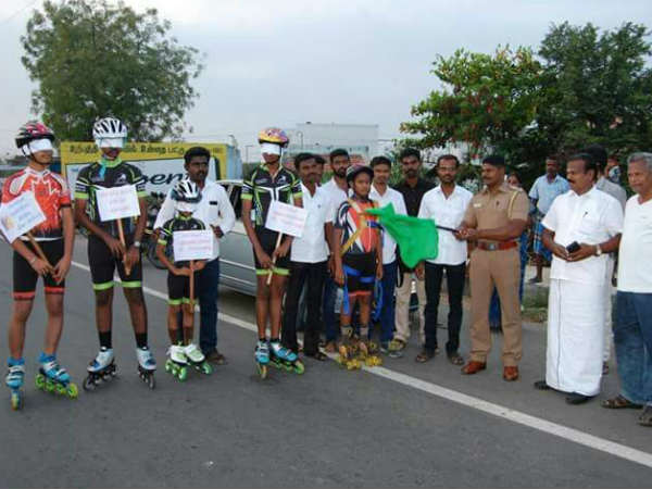 Students skate to create environment awarness in Kovilpagtti