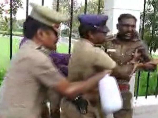 சென்னை டிஜிபி அலுவலகத்தில் 2 காவலர்கள் தீக்குளிக்க முயற்சி.. பரபரப்பு