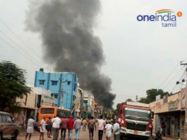 Fire accident in Thirupur crackers shop