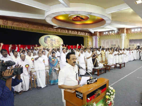DMK Conference says that ADMK is full responsibility in Periyar statue vandalise