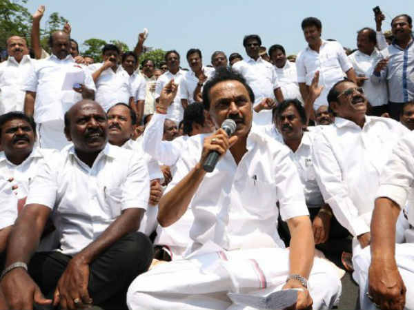 M.K.Stalin questions who is ruling the state either BJP or ADMK?