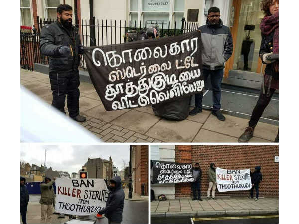 Protests against Sterlites TN plant in London