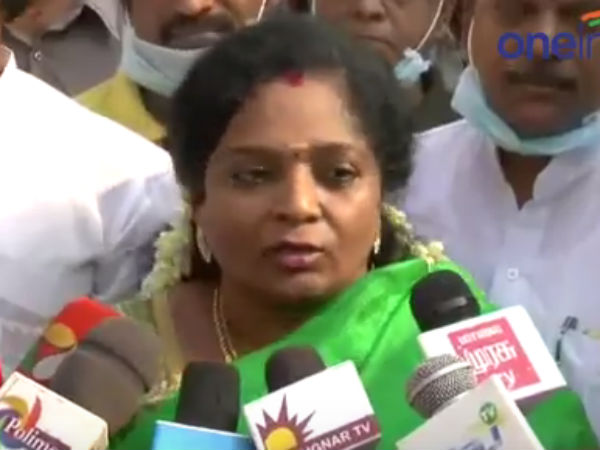 Tamilisai paid tribute for Usha's body in Trichy