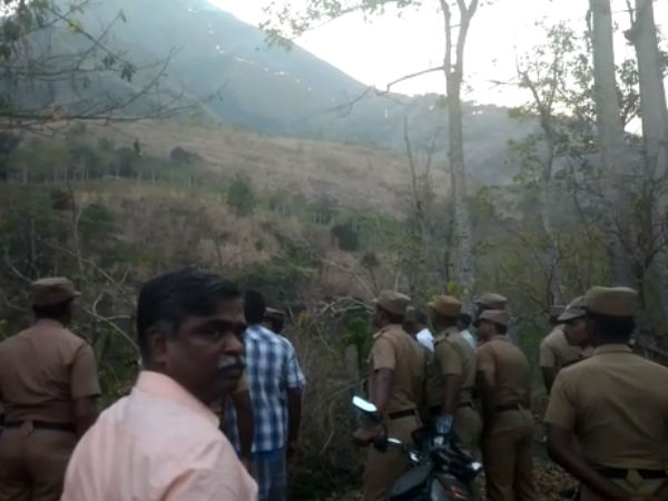 Kerala police extends their help on rescue operation in Theni Forest Fire