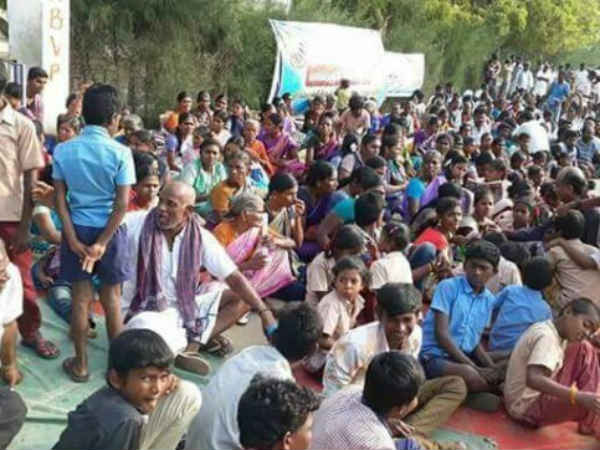 Tuticorin people mass protest on March 24 condemning Sterlite extension